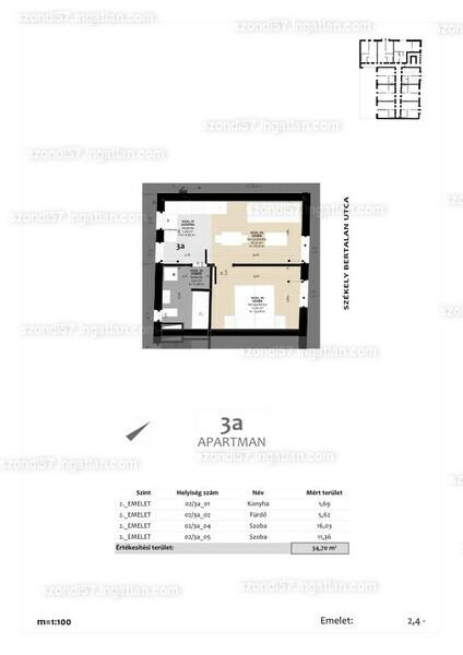 Szondi57 - 2 szoba