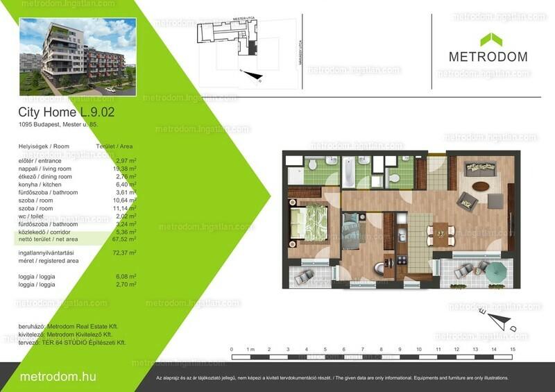 Metrodom City Home L-M - 3 szoba erkéllyel