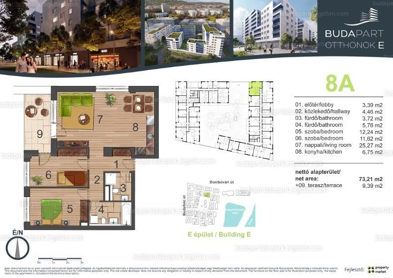 BudaPart - 3 szoba erkéllyel