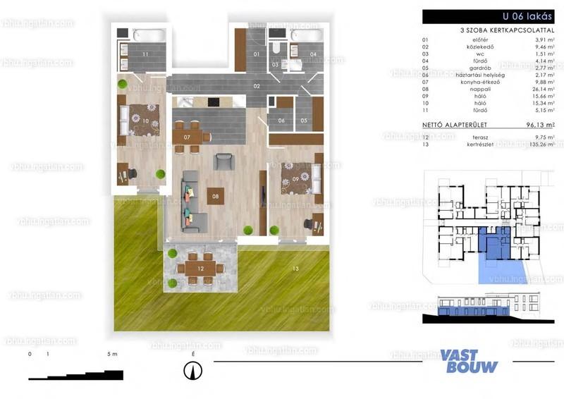 Zöld Sziget Lakások - 3 szoba kertkapcsolattal