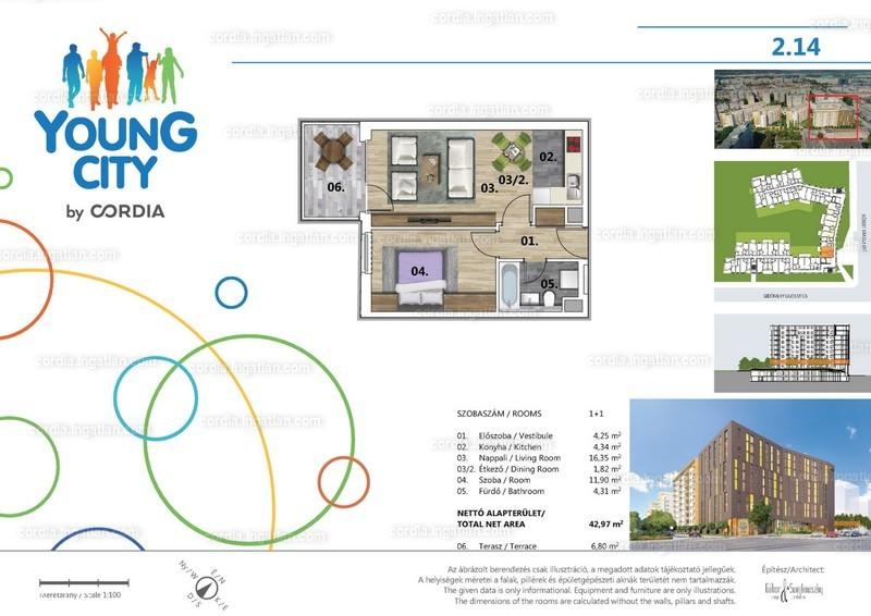 Young City 3 by Cordia - 2 szoba erkéllyel