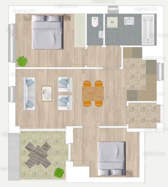 Pápay Park - 3 szoba erkéllyel