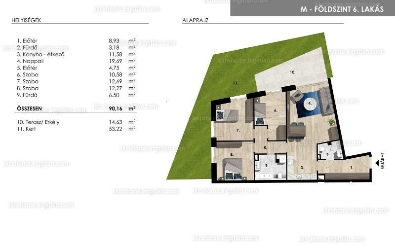Mistral Residence - 4 szoba kertkapcsolattal