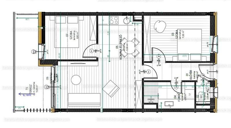 Balatonföldvár Apartmanok - 3 szoba erkéllyel