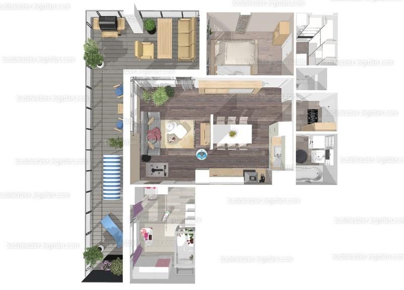 Budai Walzer I. ütem - 3 + 1 szoba erkéllyel