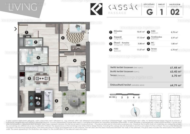 Kassák Passage - 1 + 2 szoba erkéllyel