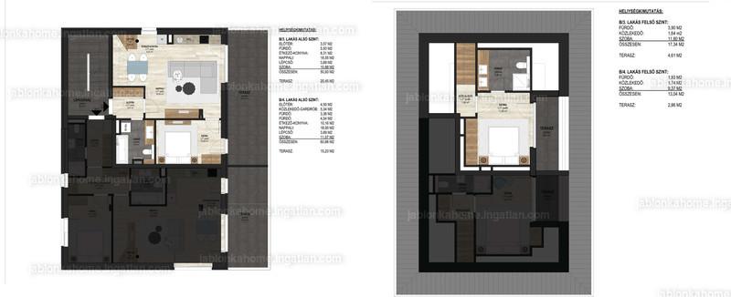 JABLONKAHOME - 3 szoba erkéllyel