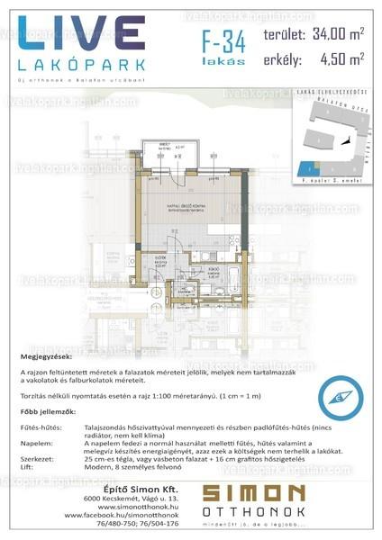 LIVE lakópark - 1 szoba erkéllyel