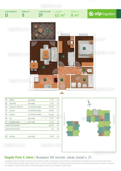 Dagály Park 2. ütem - 1 + 2 szoba erkéllyel