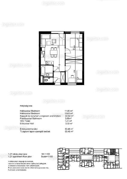 Orgonaliget Lakópark - 2 + 1 szoba