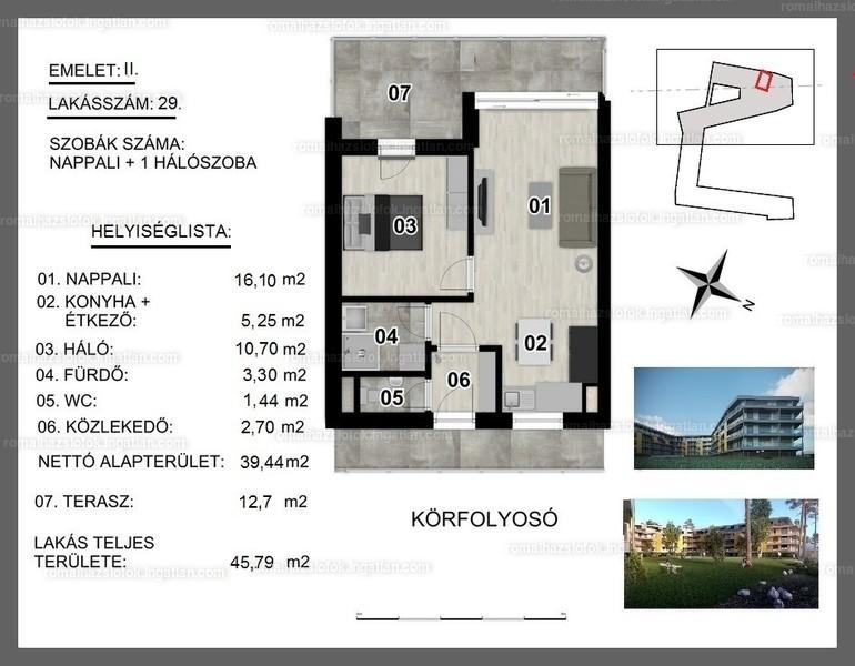 Római Ház Siófok - 2 szoba erkéllyel