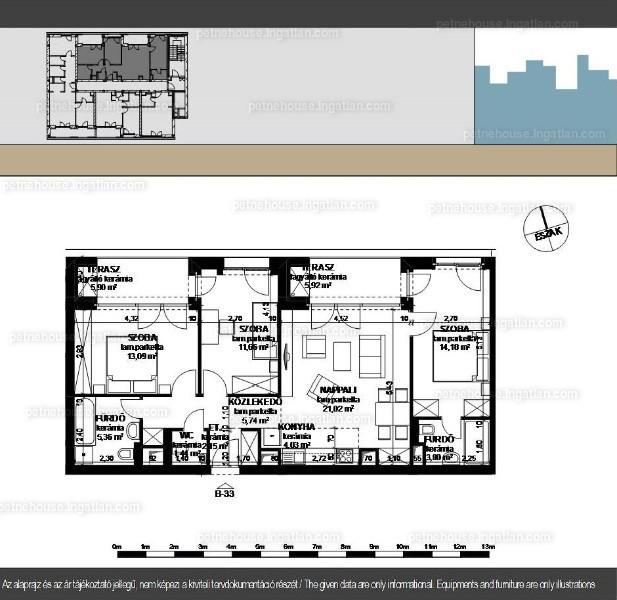 Petneház Társasház - 3 + 1 szoba erkéllyel