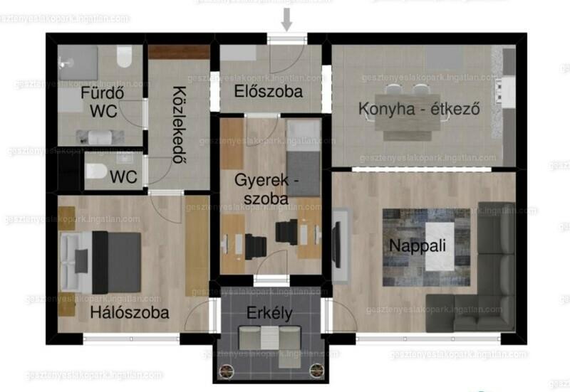 Gesztenyés lakópark - 2 + 1 szoba erkéllyel