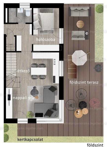 Héthalom Panoráma - 4 szoba kertkapcsolattal
