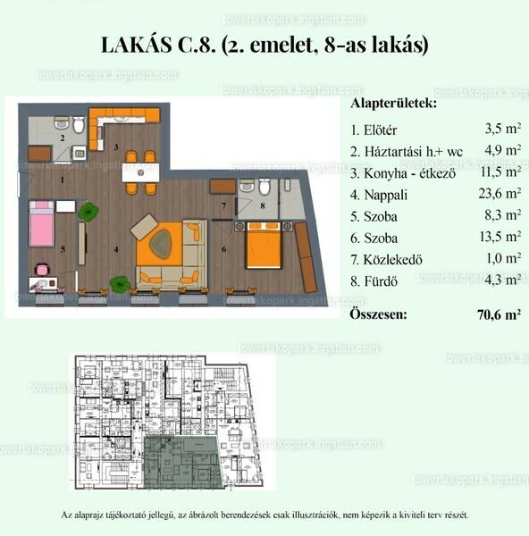 Tower Lakópark - 3 szoba