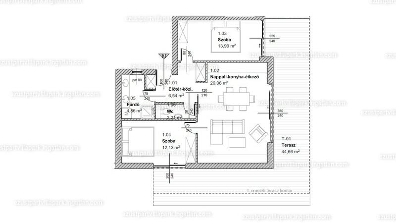 Ezüstpart Villapark - 3 szoba erkéllyel