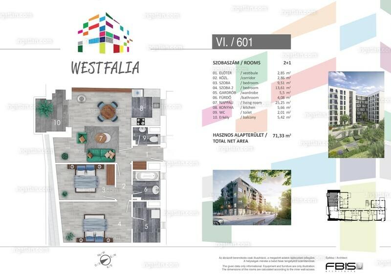 Westfalia - 3 szoba erkéllyel