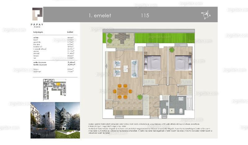 Pápay Park - 1 + 2 szoba kertkapcsolattal