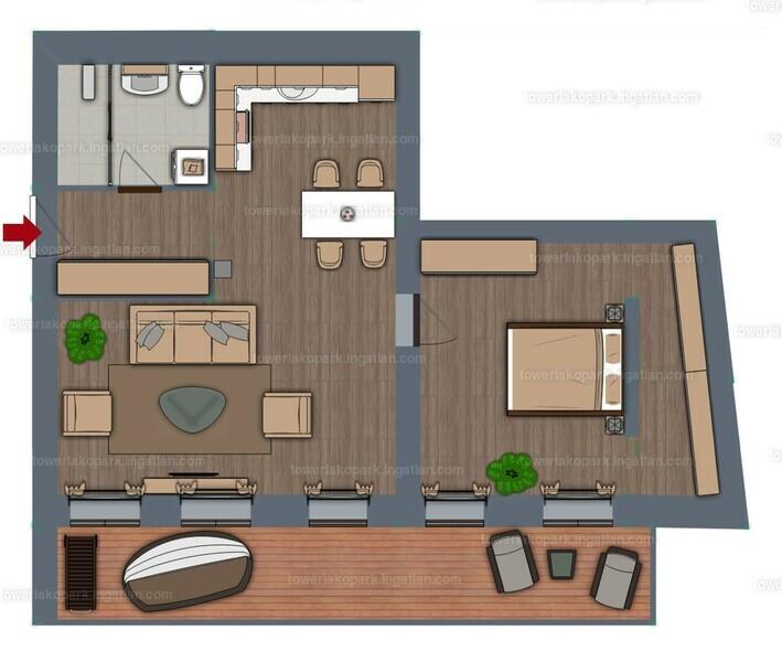 Tower Lakópark - 2 szoba erkéllyel