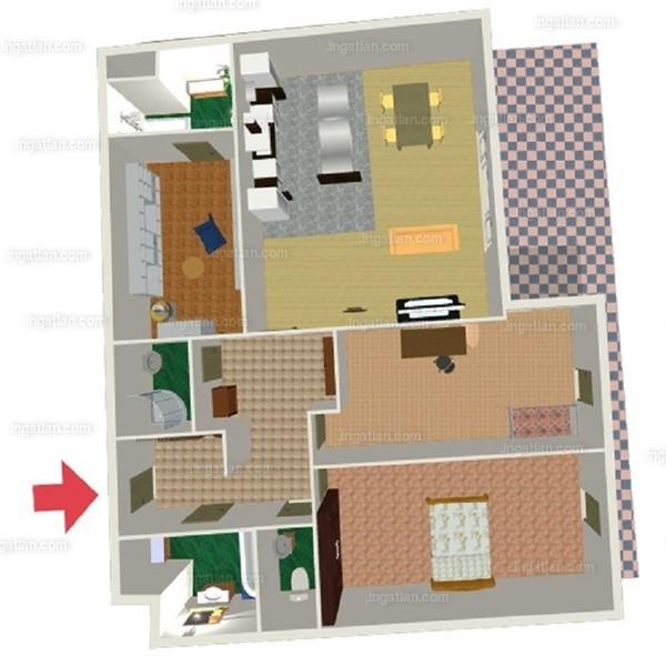 Semiramis Garden - 3 + 1 szoba erkéllyel