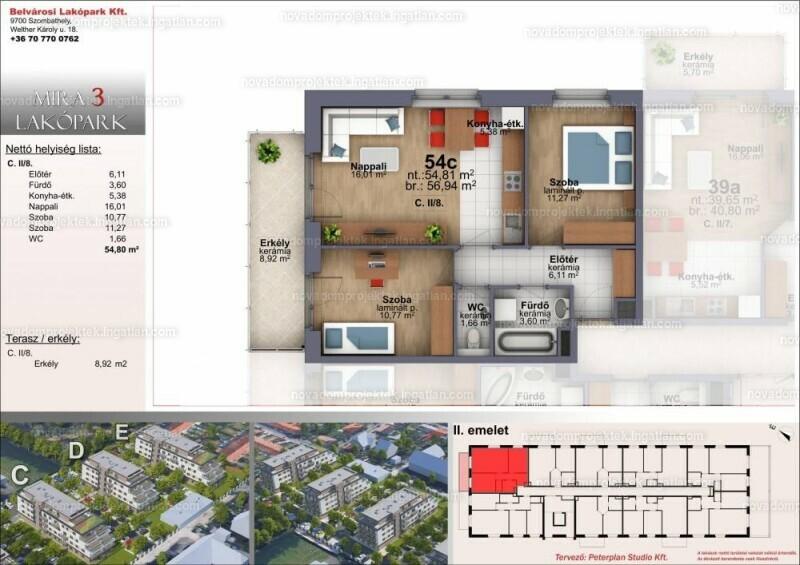 Mira Garden Lakópark III. - 2 szoba erkéllyel