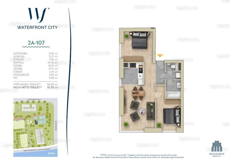Waterfront City - 3 szoba