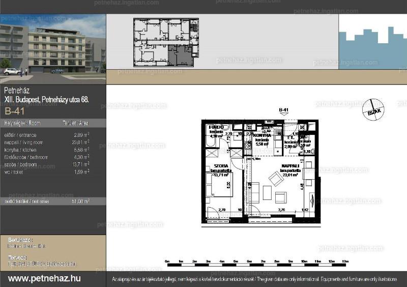 Petneház Társasház - 2 szoba