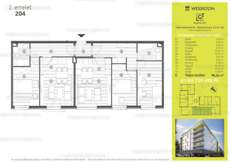 Magdolna ház - 4 szoba