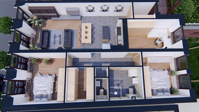 Rákóczi10 Lakópark - 4 szoba erkéllyel