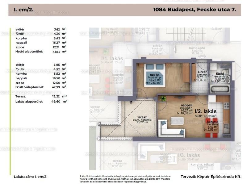 Dominika Ház - 2 szoba erkéllyel