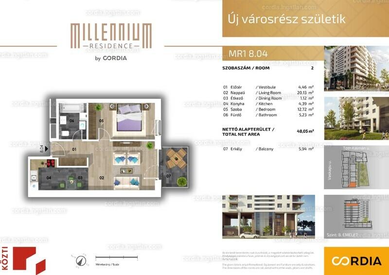 Millennium Residence by Cordia - 2 szoba erkéllyel
