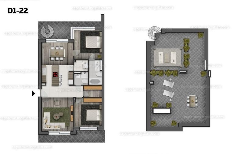 CapeTown Villapart - 4 szoba erkéllyel