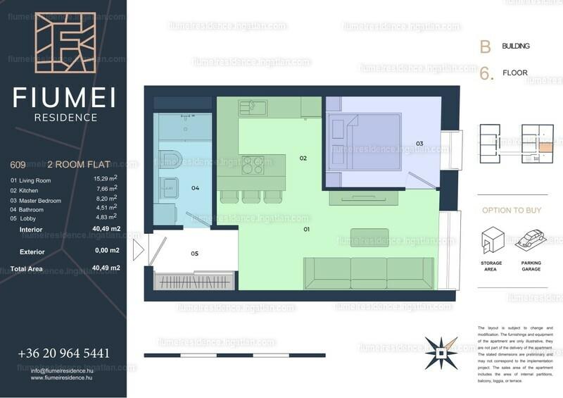Fiumei Residence - 2 szoba