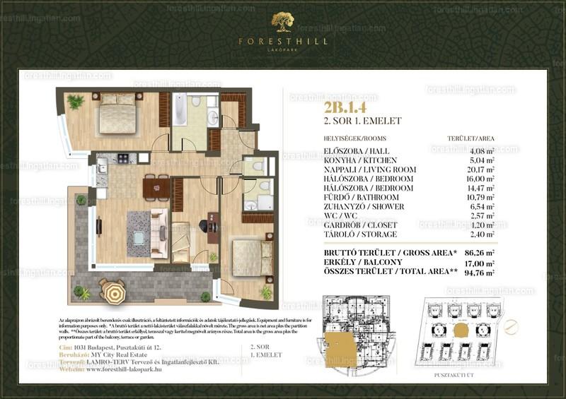 Forest Hill - 4 szoba erkéllyel