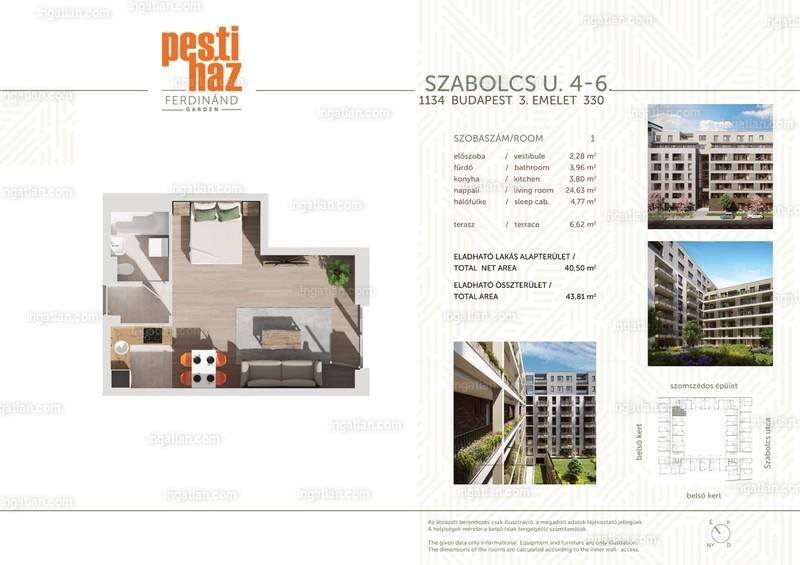 Pesti Ház - Ferdinánd Garden - 1 szoba