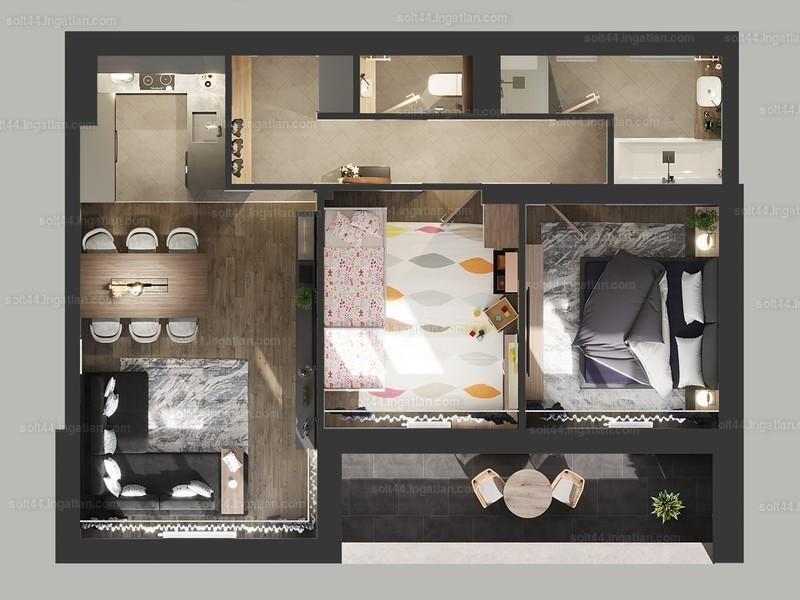 Solt 44. - 3 szoba erkéllyel