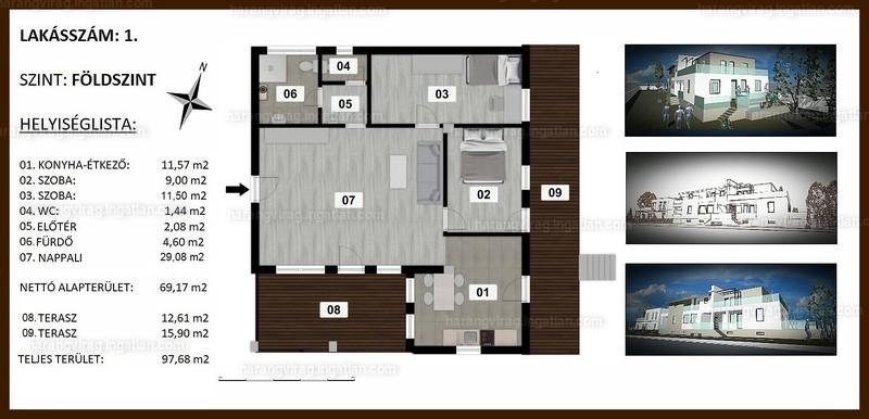 Harangvirág Lakópark - 3 szoba kertkapcsolattal