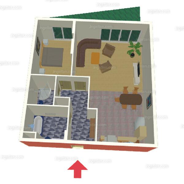 2 szoba kertkapcsolattal