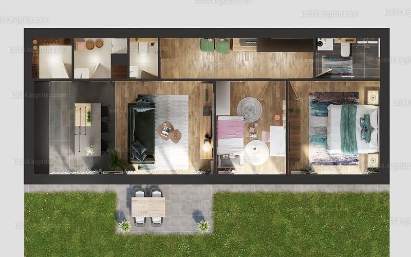 Solt 44. - 2 + 1 szoba erkéllyel