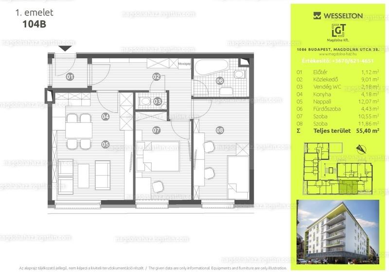 Magdolna ház - 3 szoba