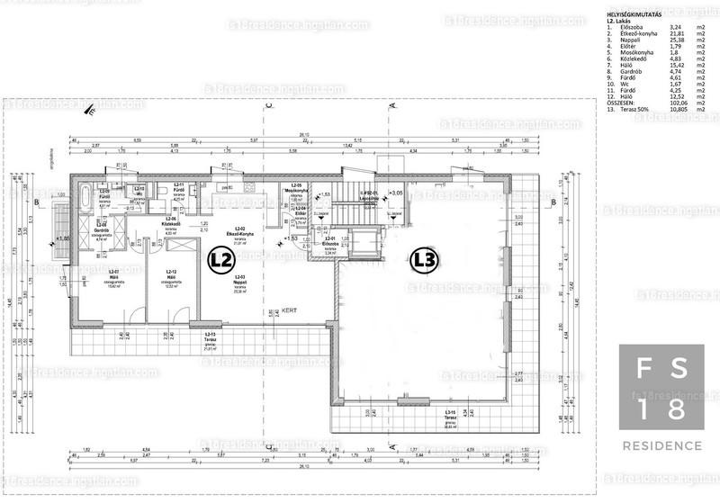 FS18 Residence - 3 szoba kertkapcsolattal