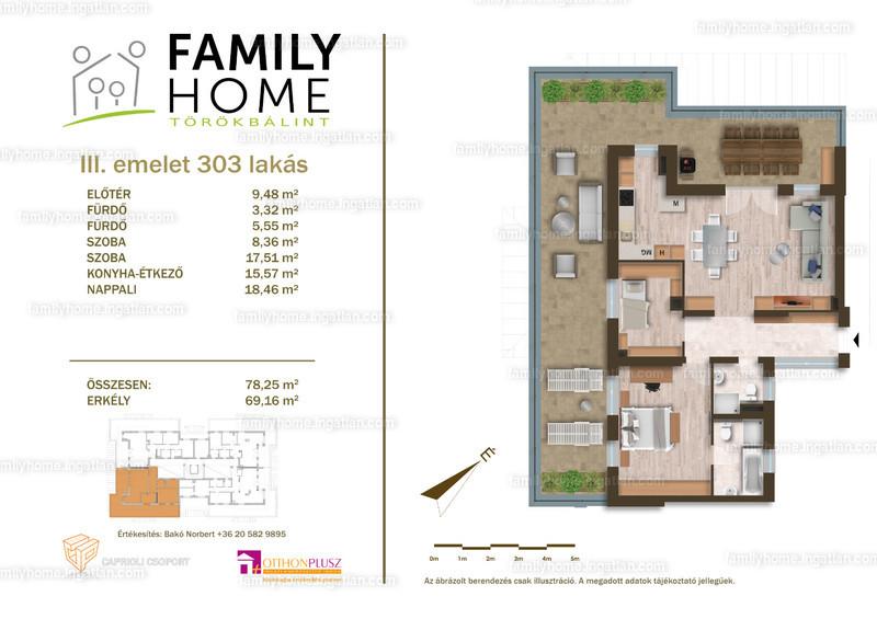 Family Home Törökbálint - 3 szoba erkéllyel