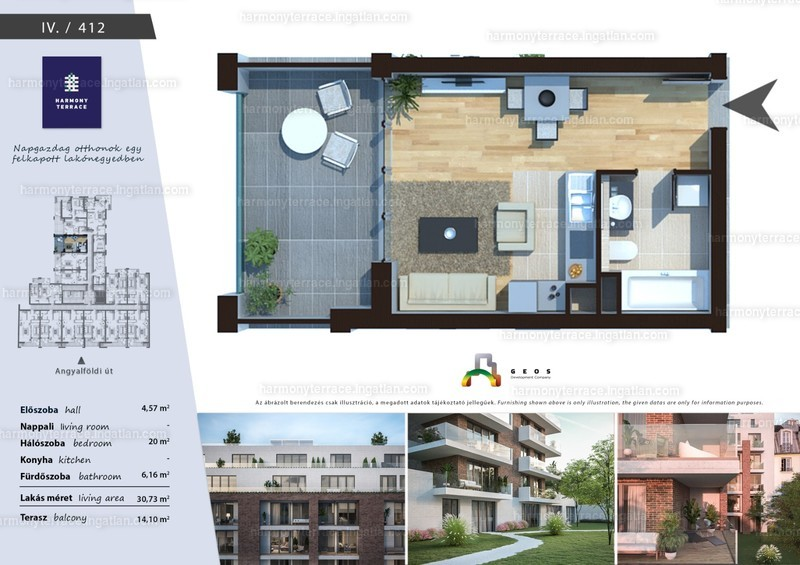 Harmony Terrace - 1 szoba erkéllyel