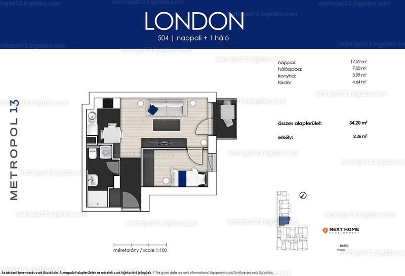 Metropol 13 - 1 + 1 szoba erkéllyel
