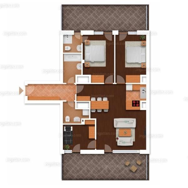 3 + 1 szoba erkéllyel