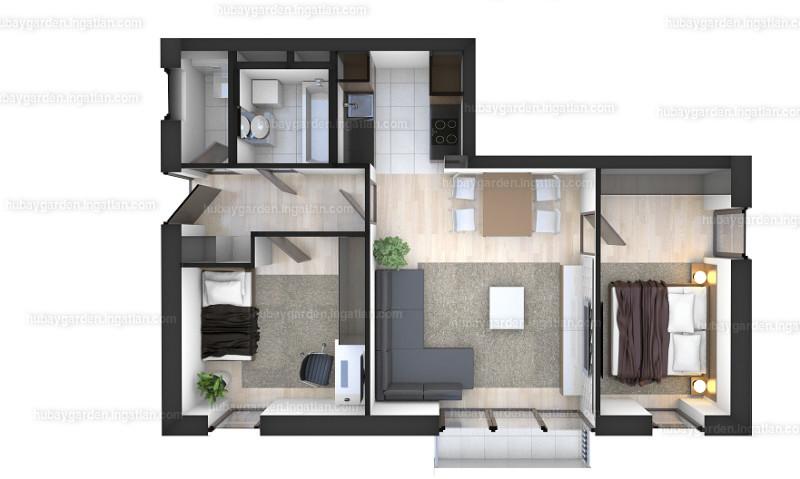 Hubay Garden - 3 szoba erkéllyel