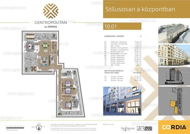 Centropolitan by Cordia - 4 szoba erkéllyel