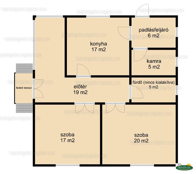 Ingatlan, eladó ház, Kétújfalu, Petőfi utca 80., 89 m2