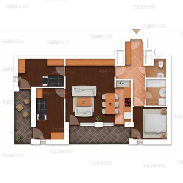 Somfa Liget VII. ütem - 1 + 3 szoba erkéllyel