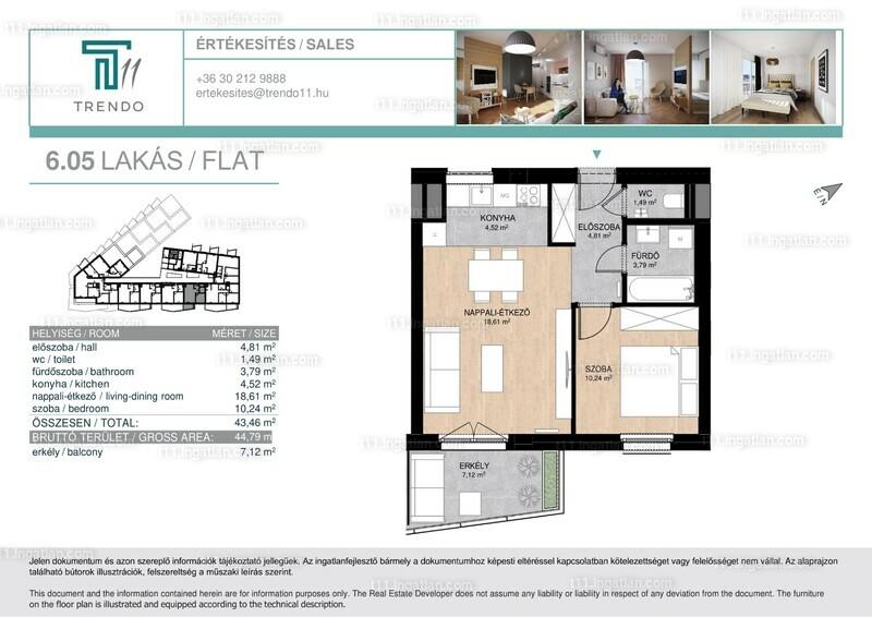 T11 - 1 + 1 szoba erkéllyel